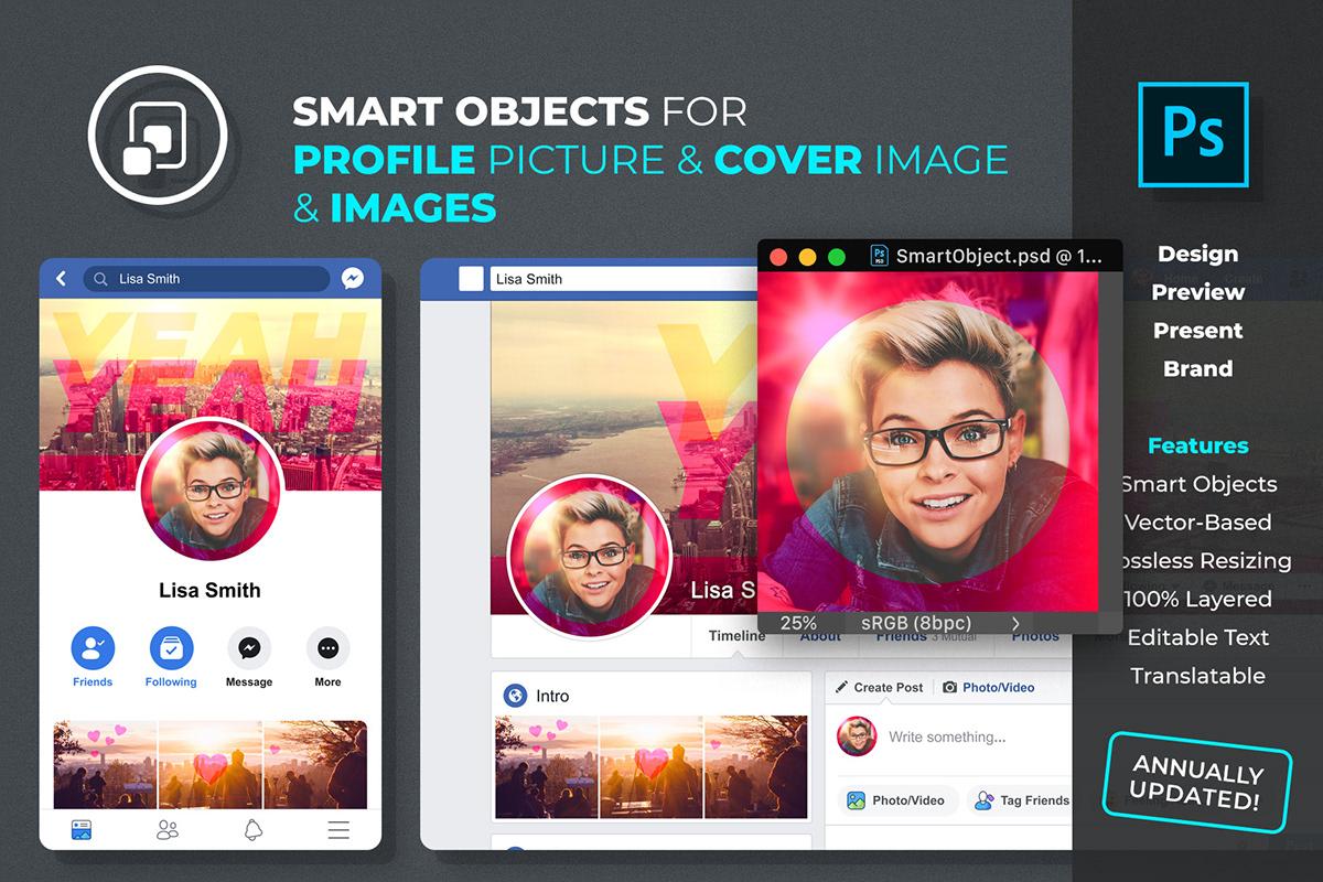 Free Facebook Profile Mockup 2019 PSD_02