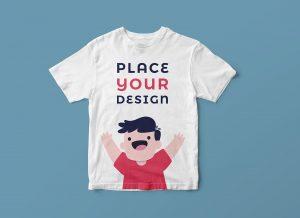 Free Kids Shirt Mockup PSD