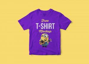 Free Kids Shirt Mockup PSD_02