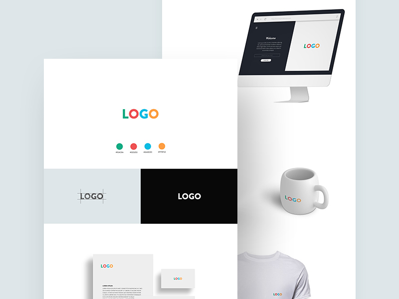 Free Logo Design Presentation Mockup