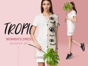 Free Women Dress Mockup PSD
