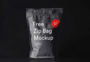 Free Zip Pouch Mockup PSD