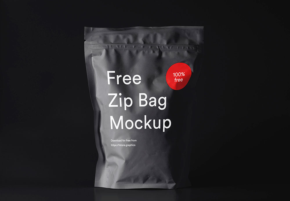 Free Zip Pouch Mockup PSD