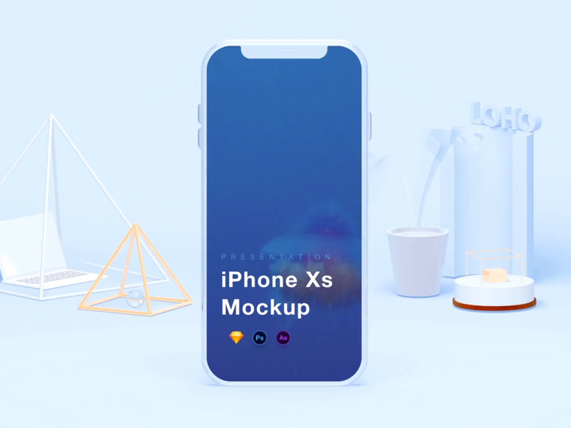 iPhone Xs Mockups psd
