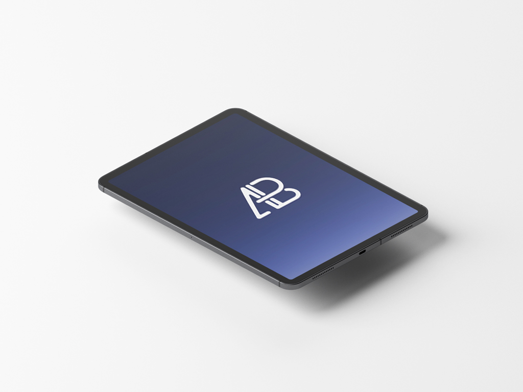 Free Animated floating iPad Pro Mockup