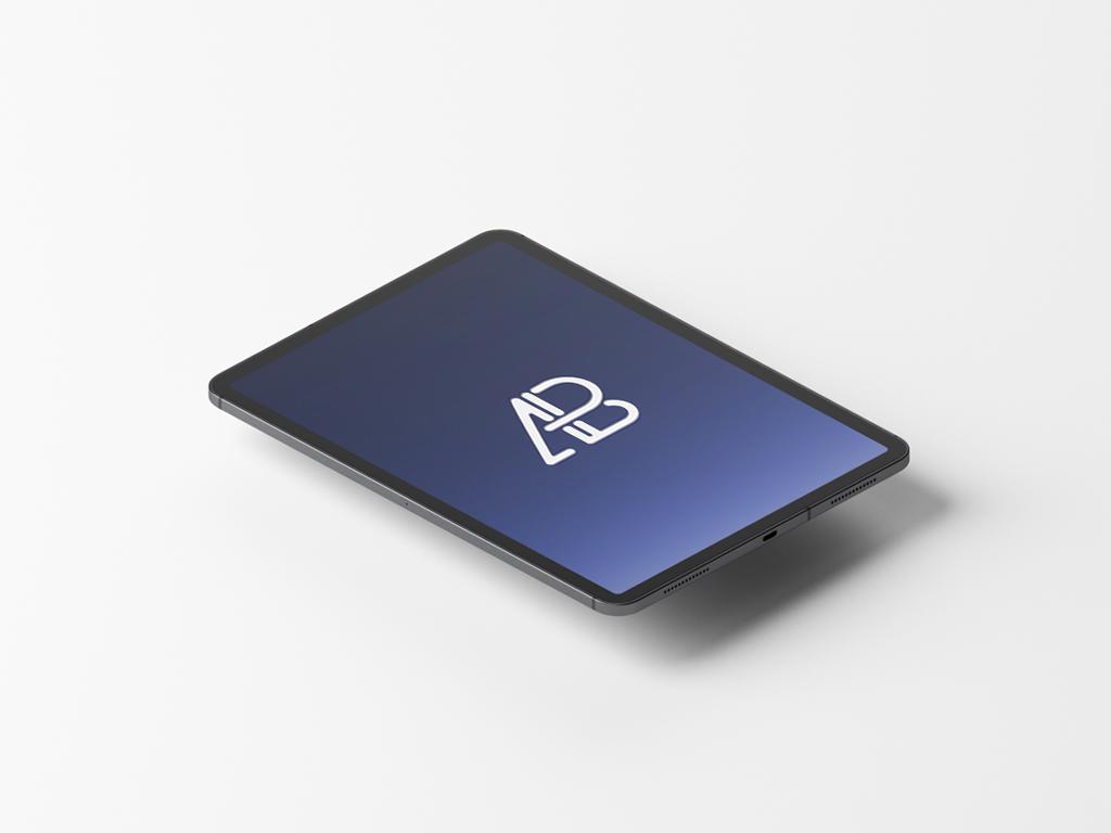 Free Animated floating iPad Pro Mockup