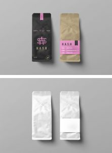 Free Coffee Bags Mockup PSD 02