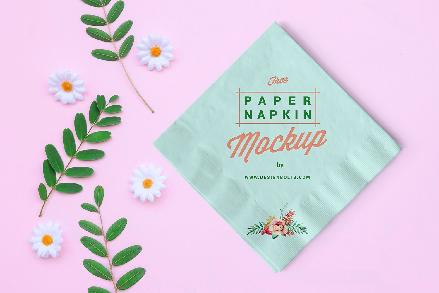 Free Table Paper Napkin Mockup