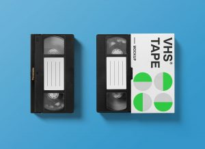 Free VHS Tape Packaging Mockup PSD