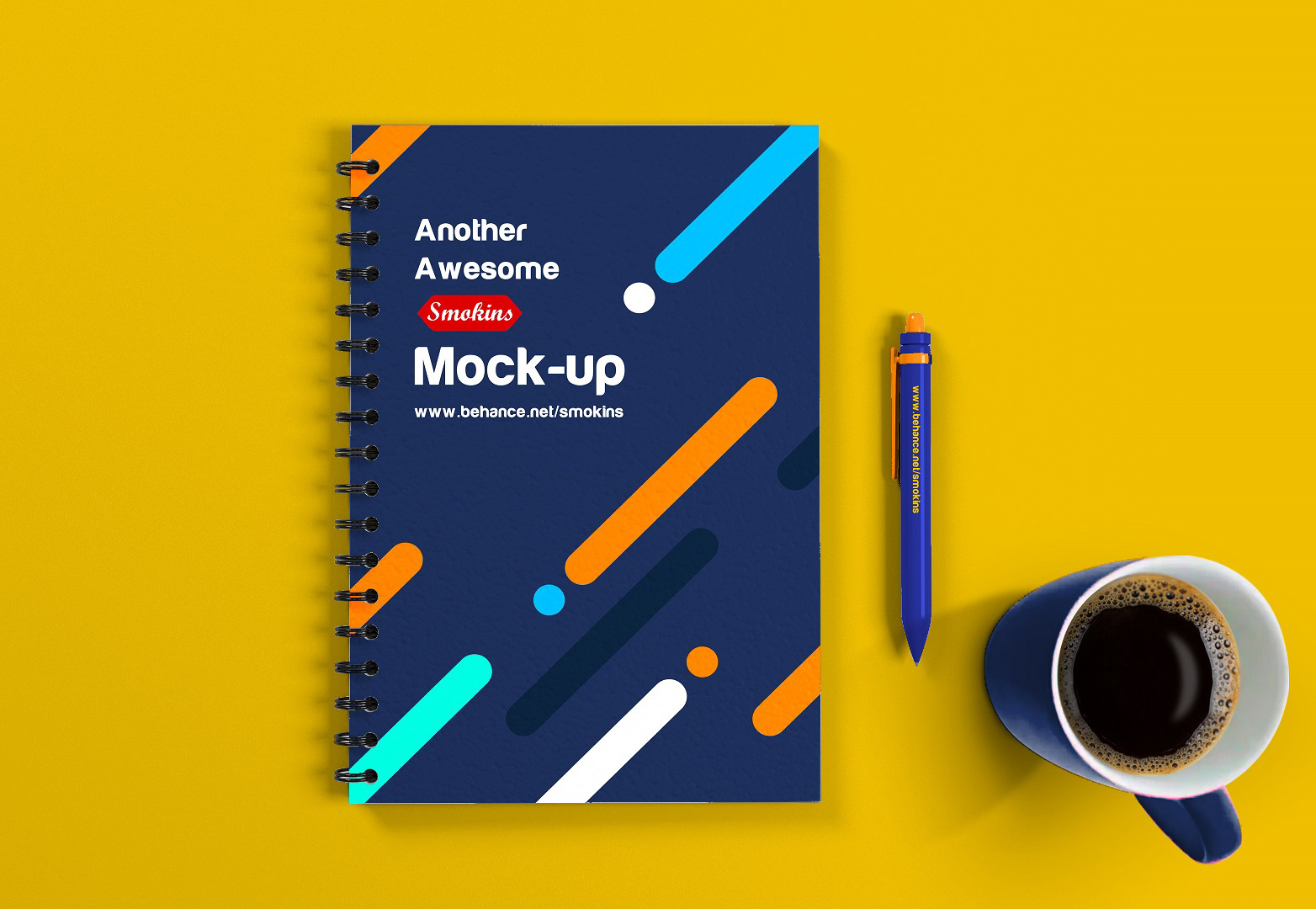free notebook mockup psd