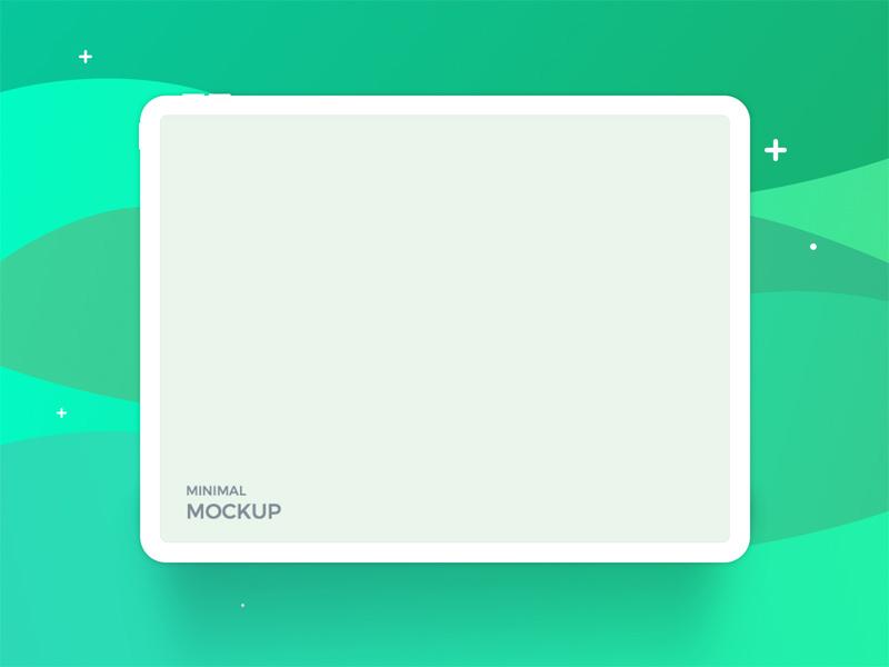 iPad Pro Minimal Mockup