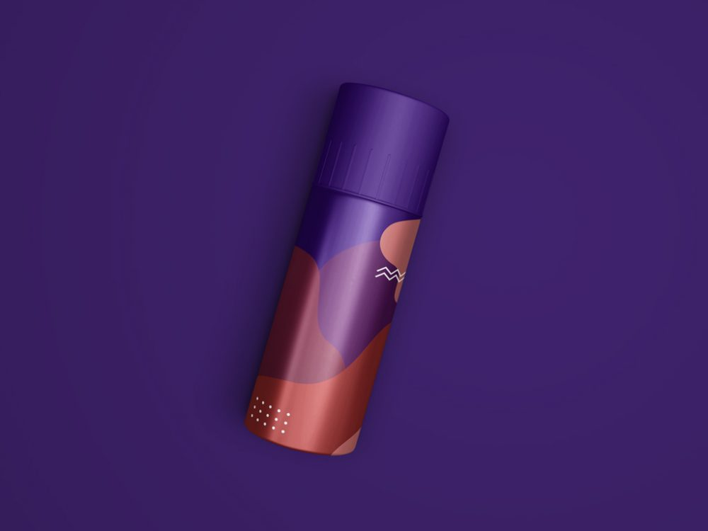 Deodorant Spray Bottle Mockup PSD