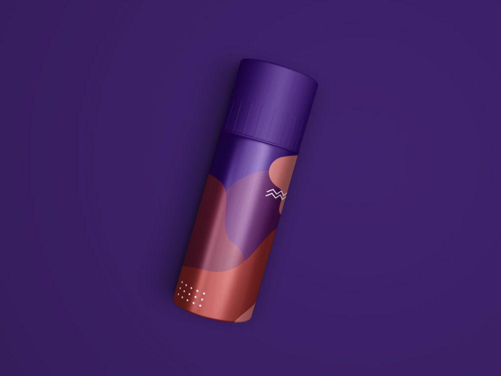 Deodorant Spray Bottle Mockup PSD