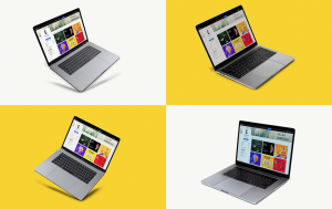 Free MacBook Pro Mockup PSD Set