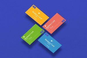 Floating Branding Business Card Mockup (PSD)