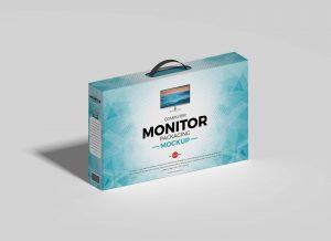 Free Computer Monitor Packaging Mockup