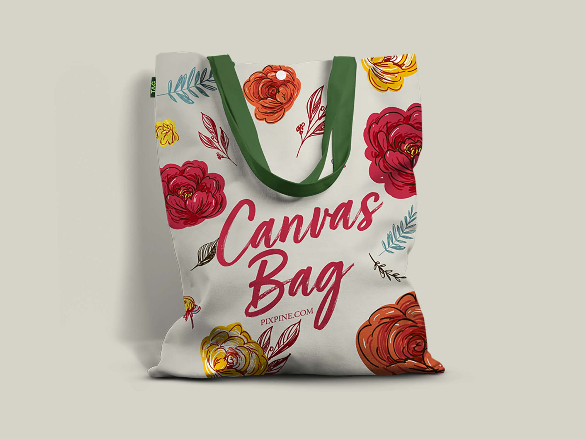 Free Realistic Canvas Bag Mockup
