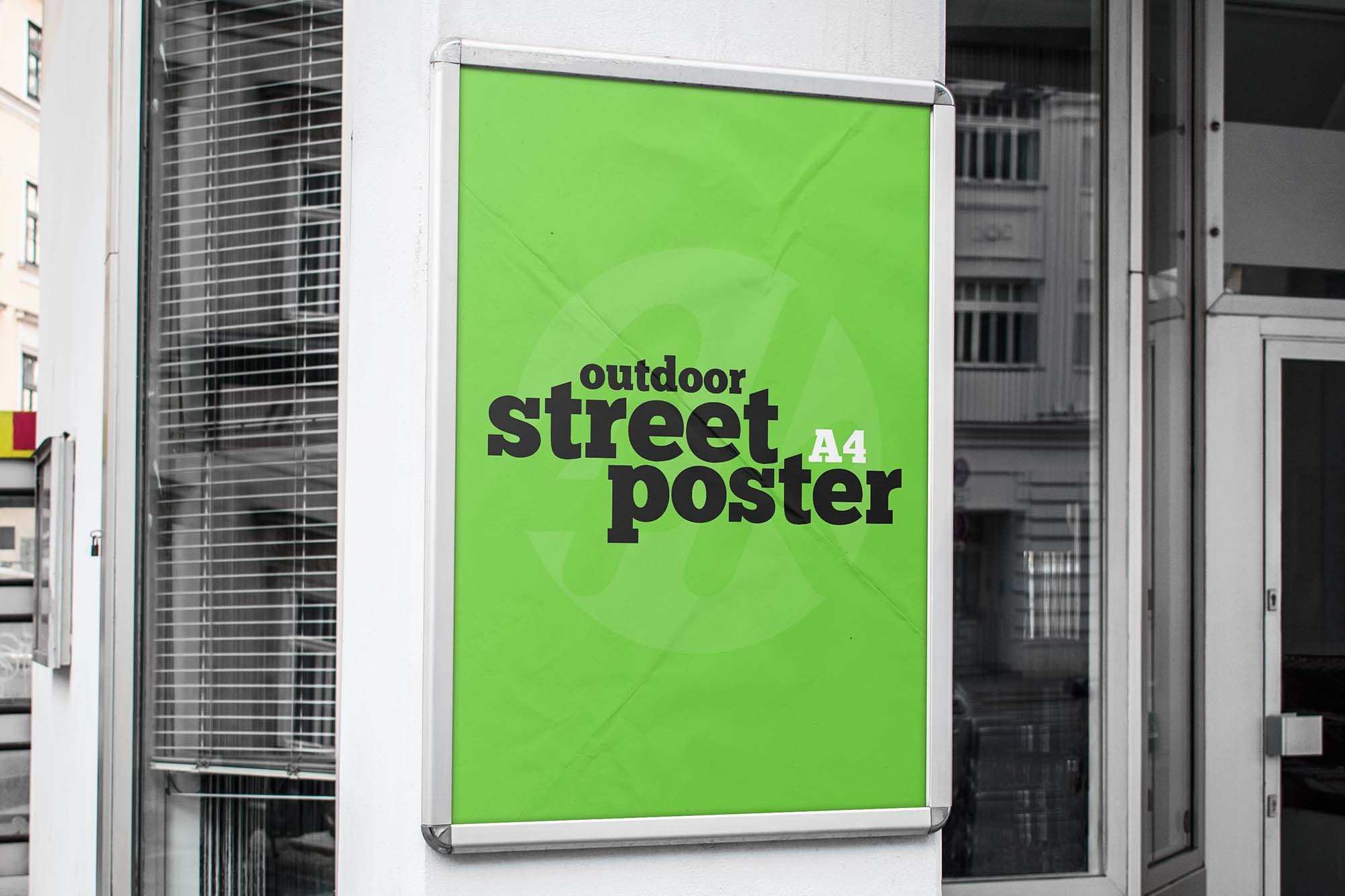 Free Street Poster Mockup PSD