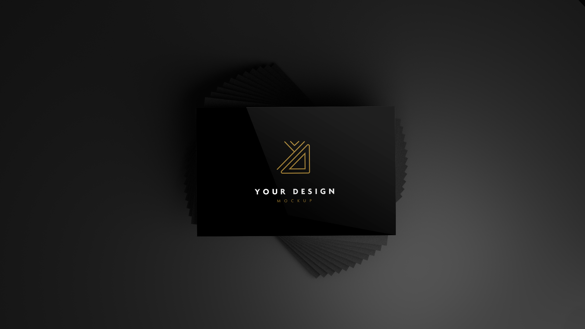 Big Black Business Card Mockup