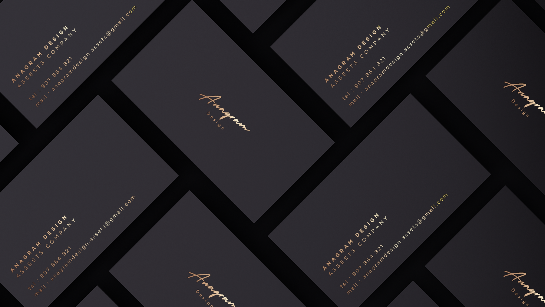 Black and Gold Branding Mockup