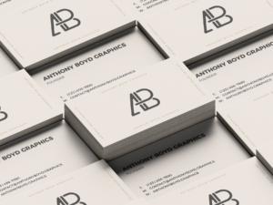 Free Business Card Grid Mockup