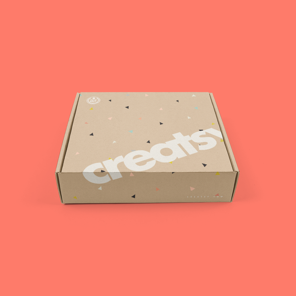Free Mailing Box PSD MockUp