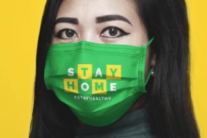 Free Medical Face Mask Mockup