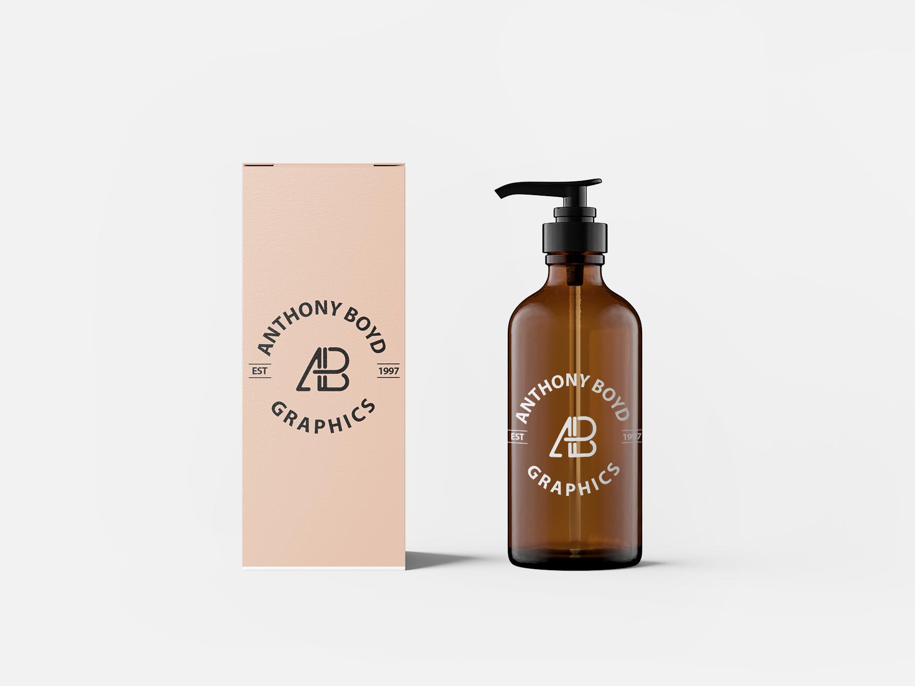 Free Cosmetics Pump Mockup