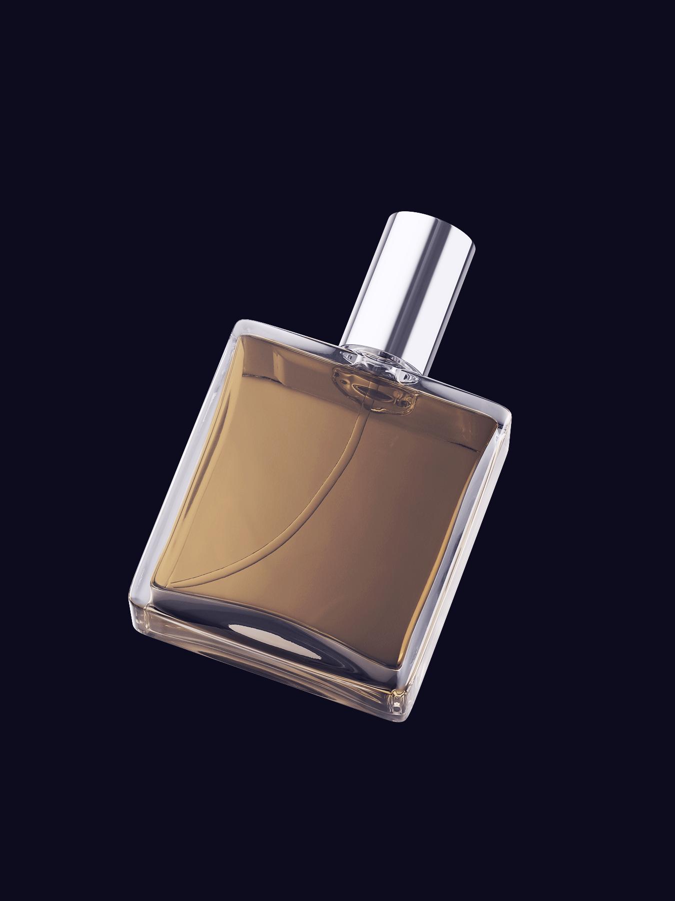 Free Perfume Flacon Bottle Mockup