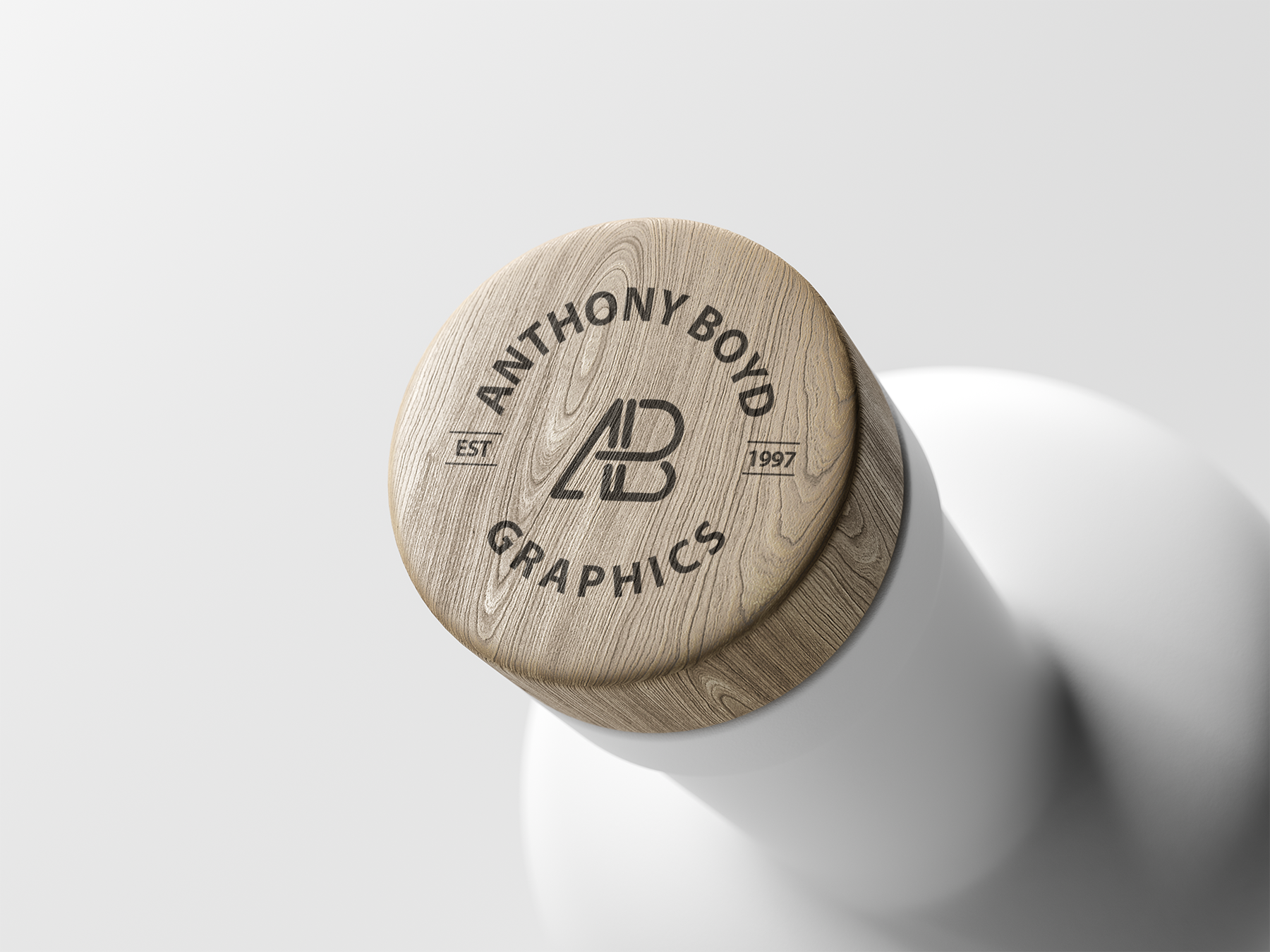 Free Wooden Bottle Cap Mockup