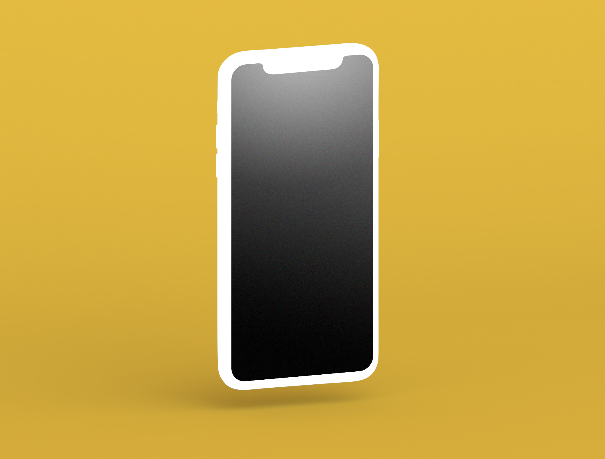 Free iPhone 11 Clay-Style Mockup