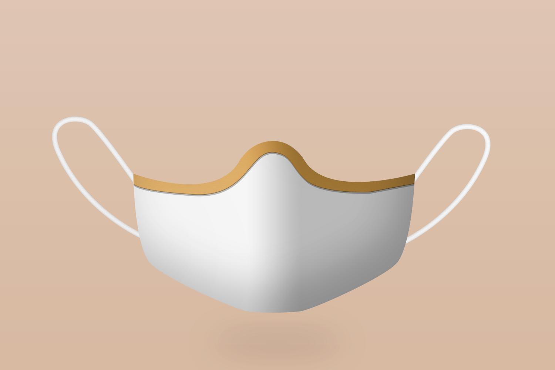 Free Corona Face Mask Mockup