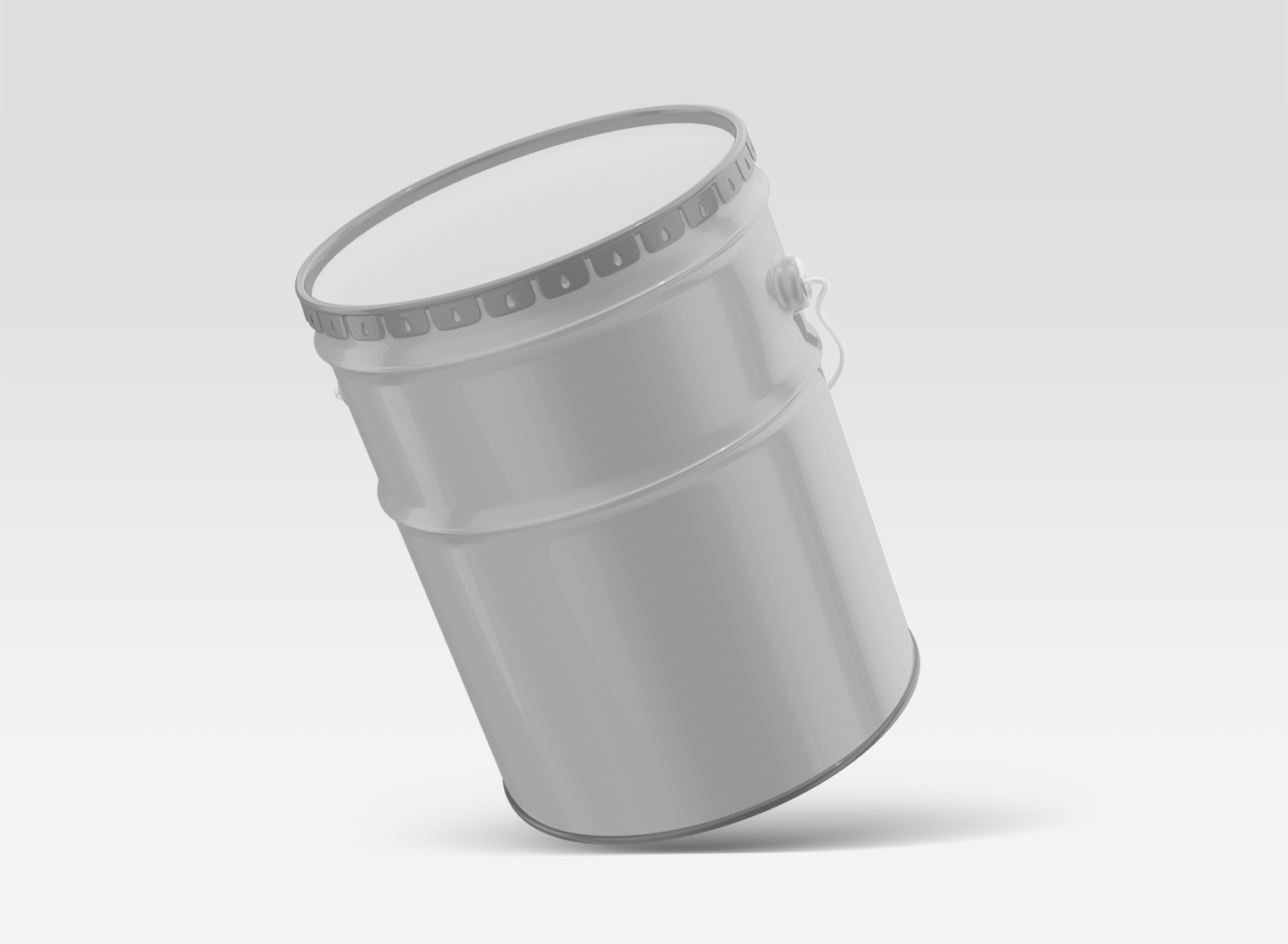Free Floating Paint Bucket Mockup