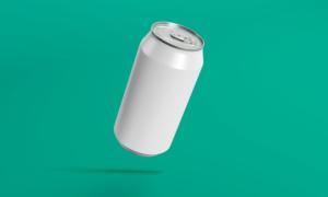 Free Aluminum Soda Can Mockup