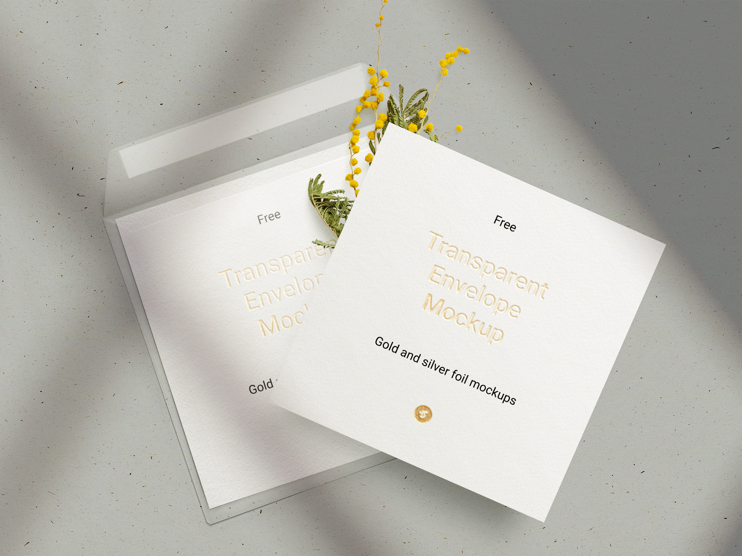 Free Invitation Card Mockup