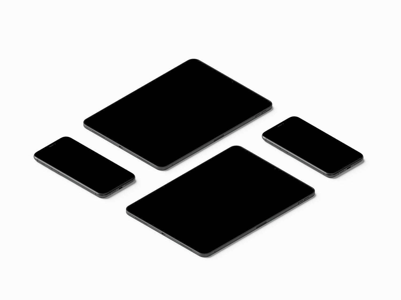 Free Isometric iPhone Mockup