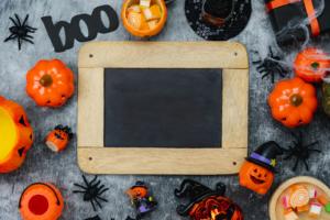 Free Halloween Sign Mockup