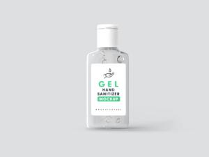 Free Hand Sanitizer Gel Bottle Mockup