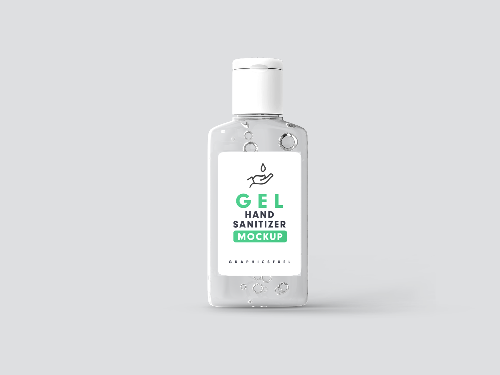 Free Hand Sanitizer Gel Bottle Mockup
