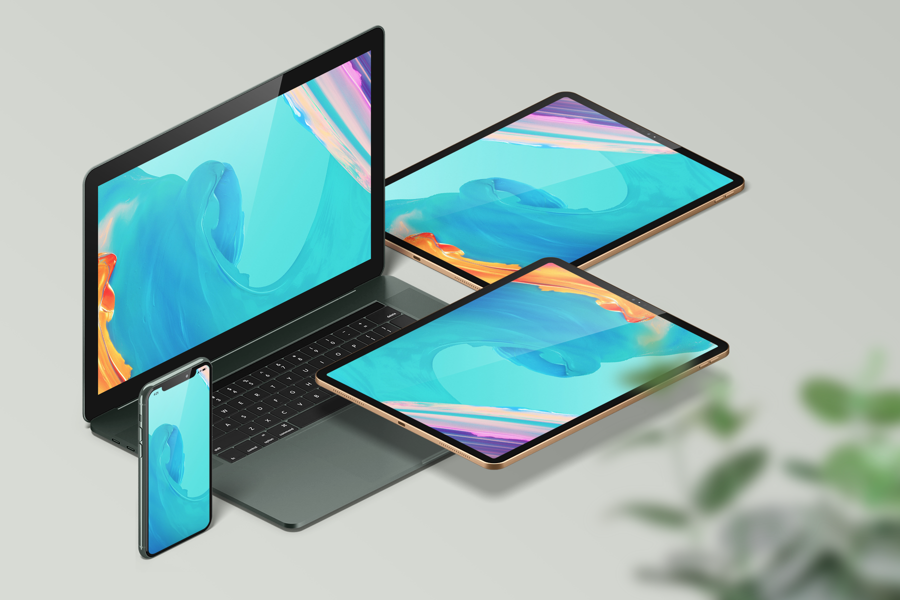 Free MacBook, iPad and iPhone Mockup