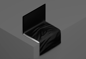 Free MacBook with scrollable Content Mockup