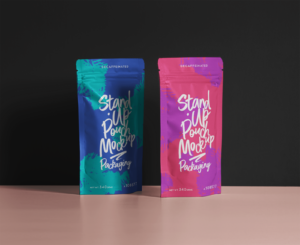 Free Resealable Pouches Mockup