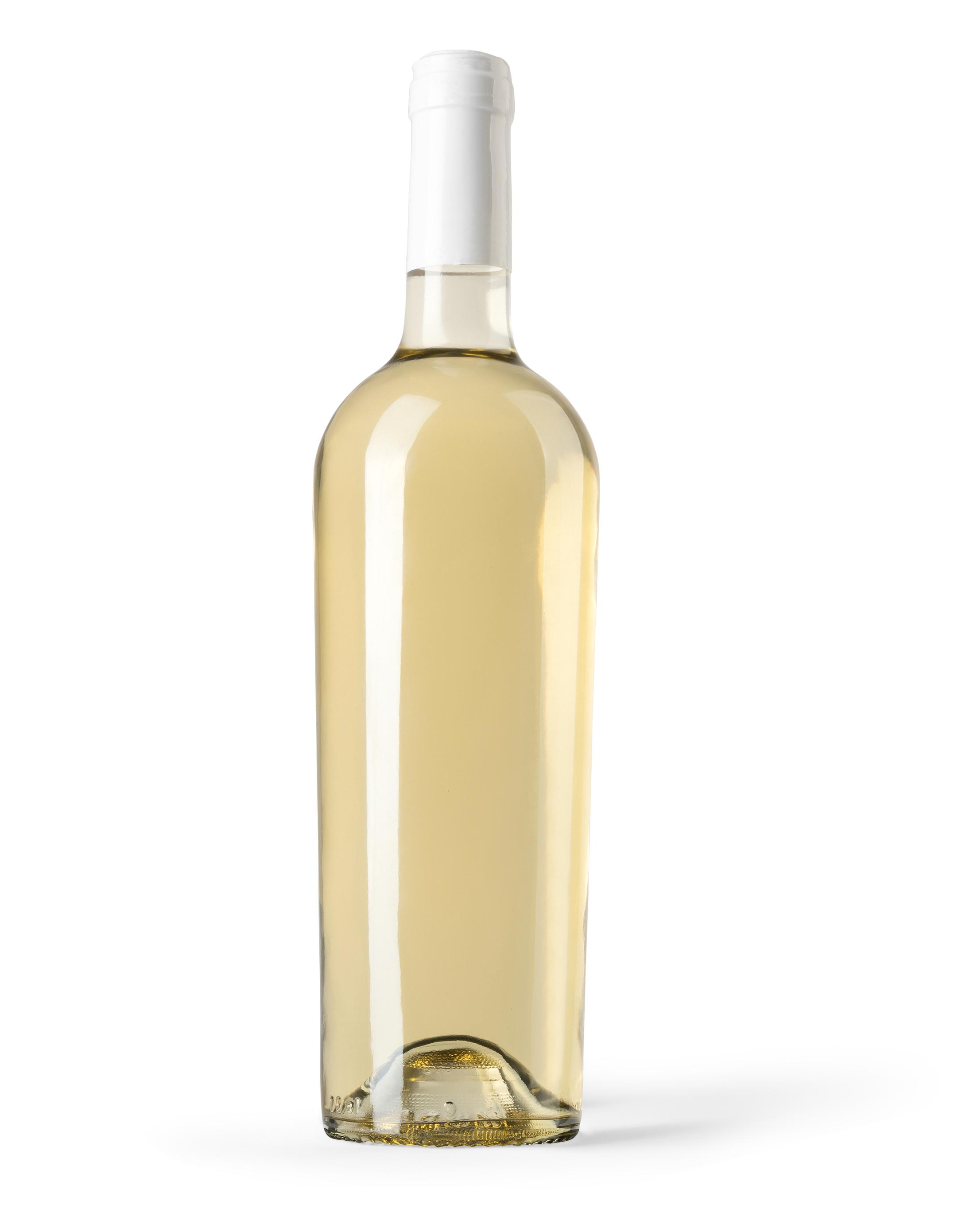 Free White Wine Bottle Mockup
