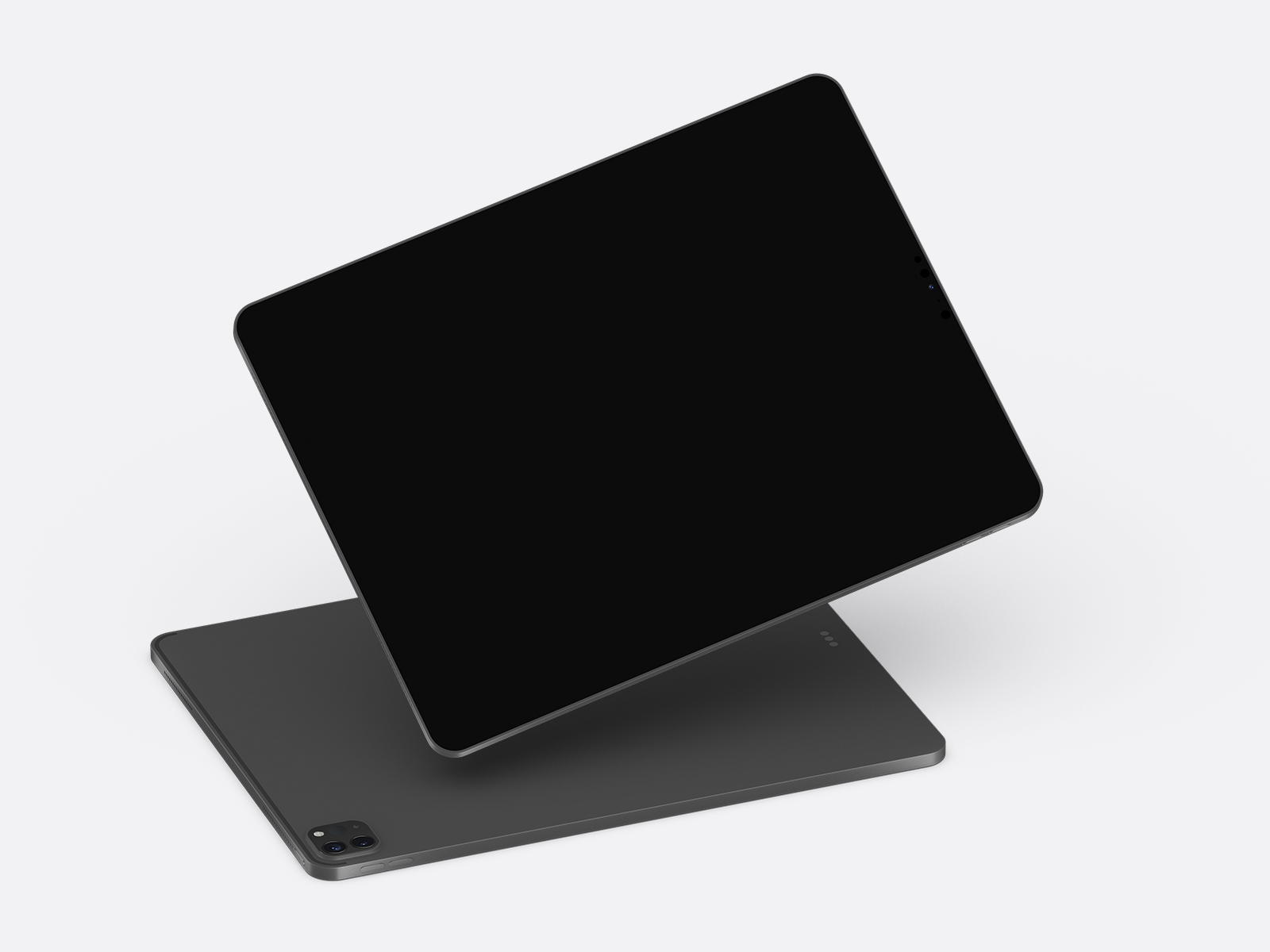 Free iPad Pro (Clay Style) Mockup