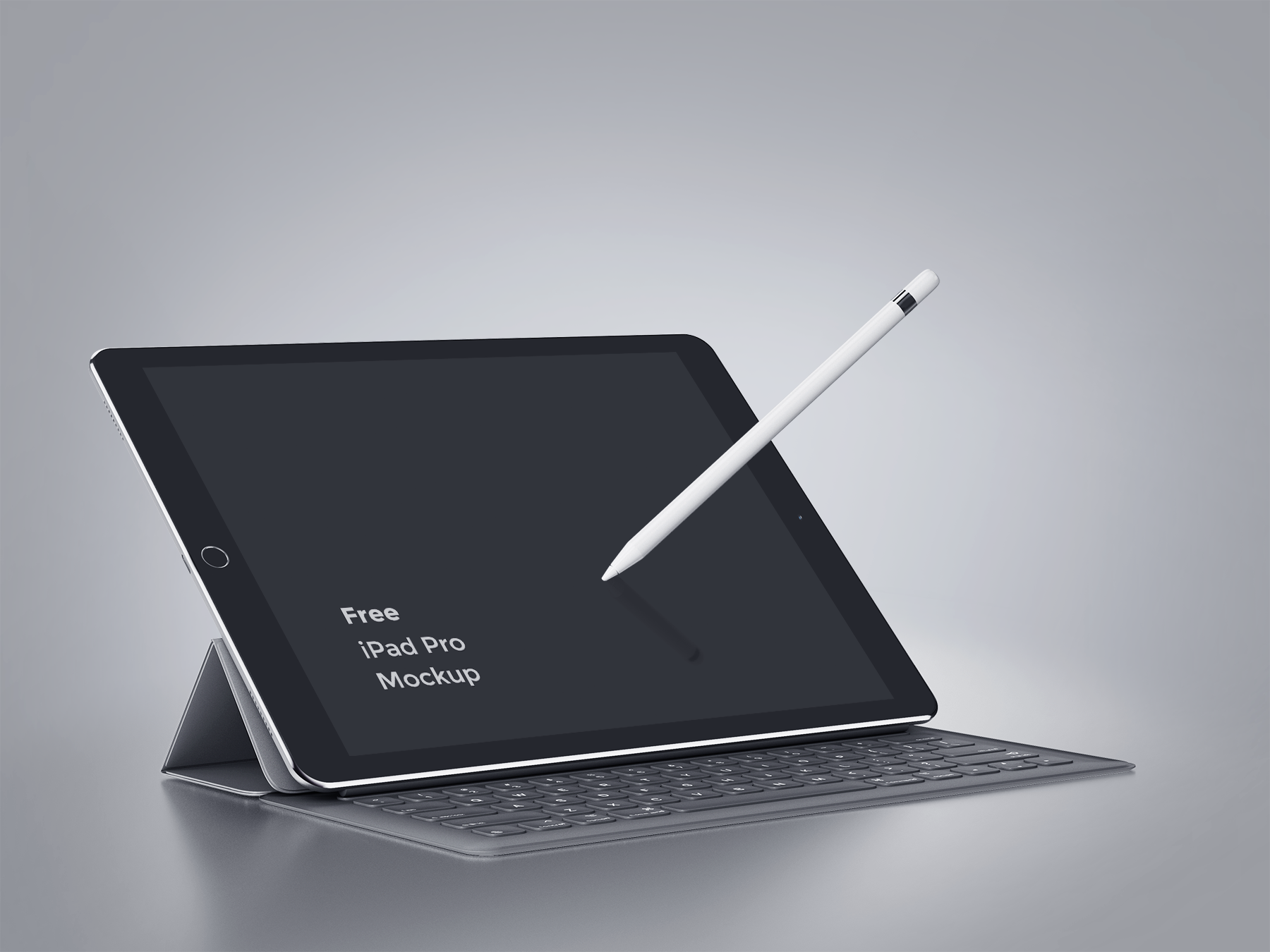 Free iPad Pro with Keyboard Mockup