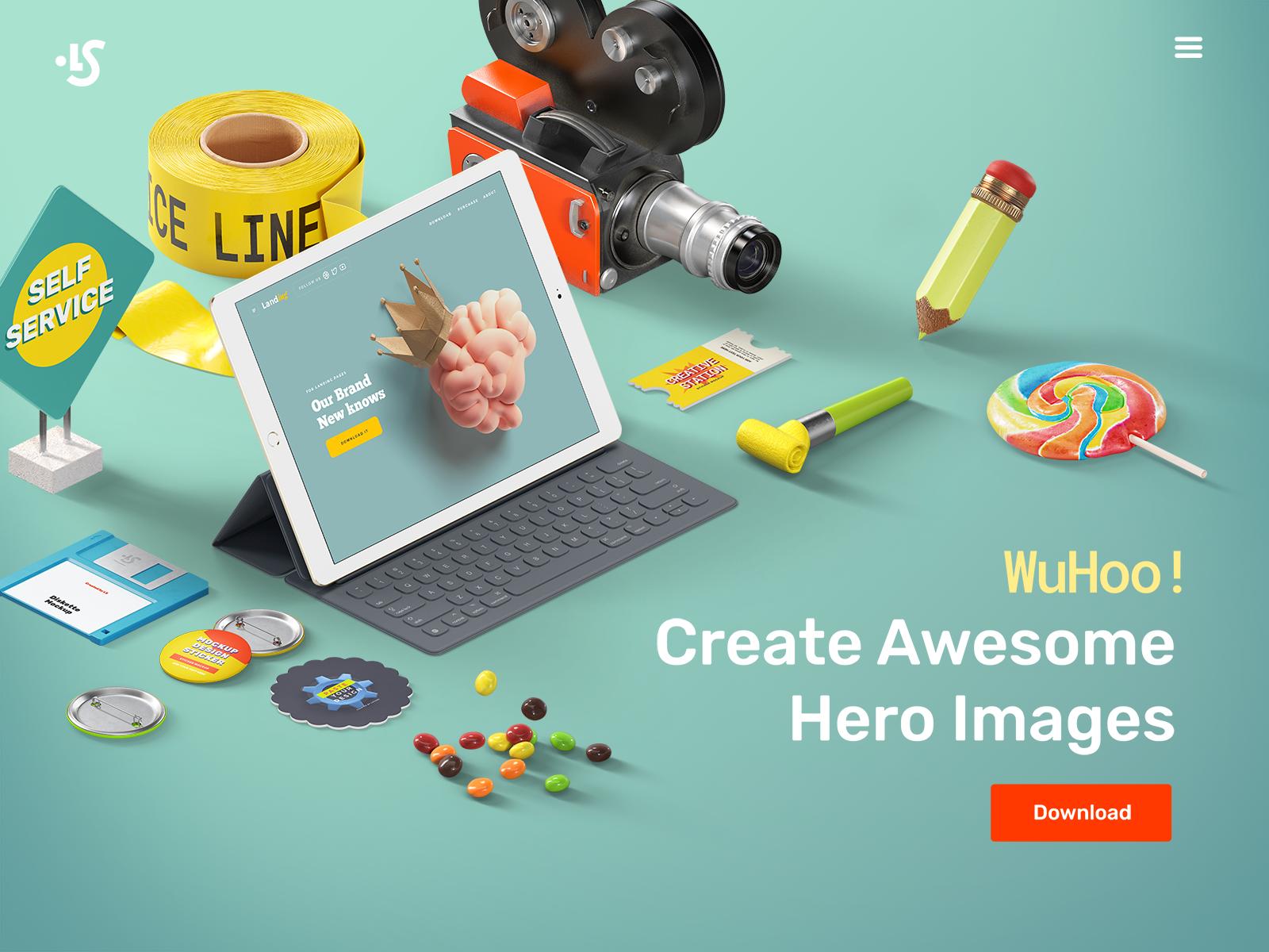 Free iPad Scene Creator Mockup
