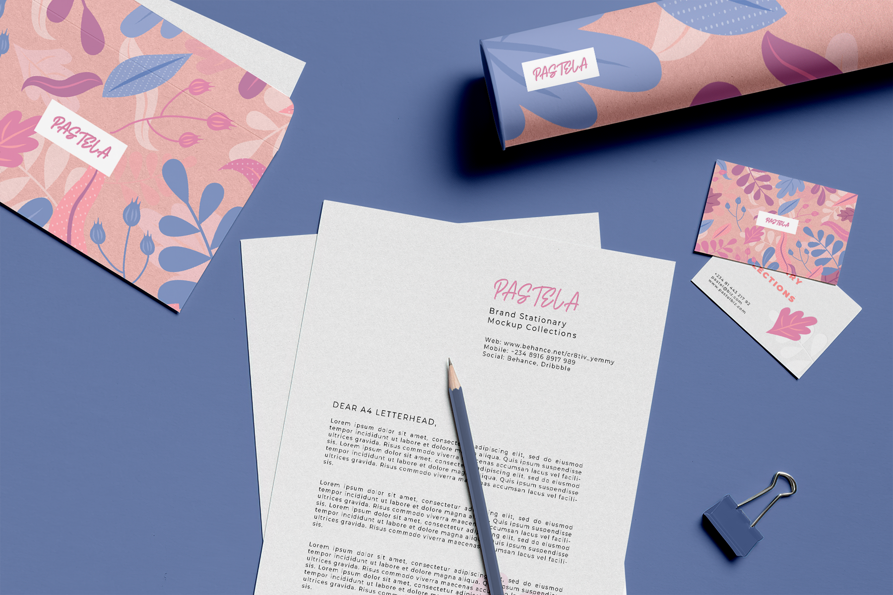 Free Big Stationery Mockup