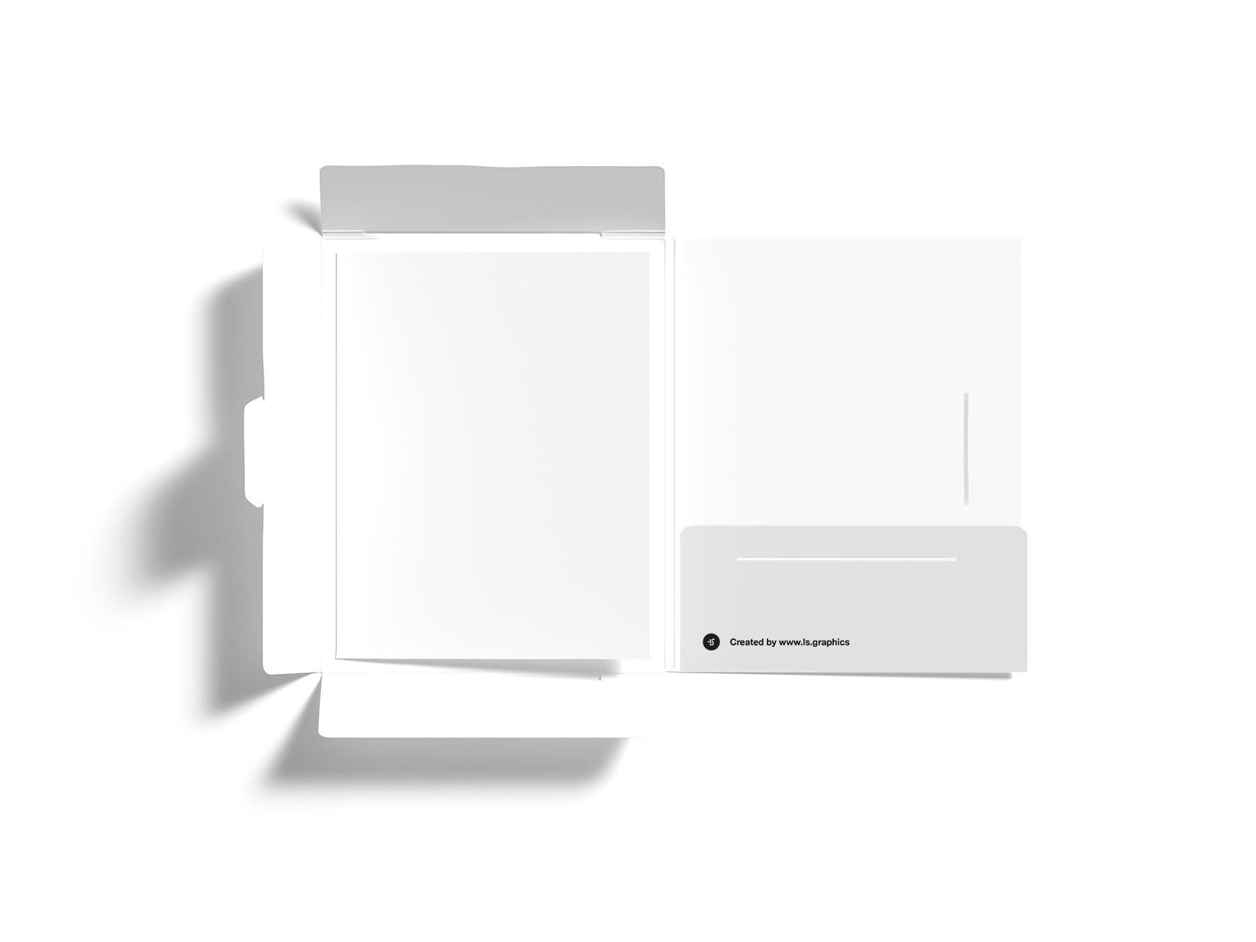 Free Letter and Paper Folder Mockup