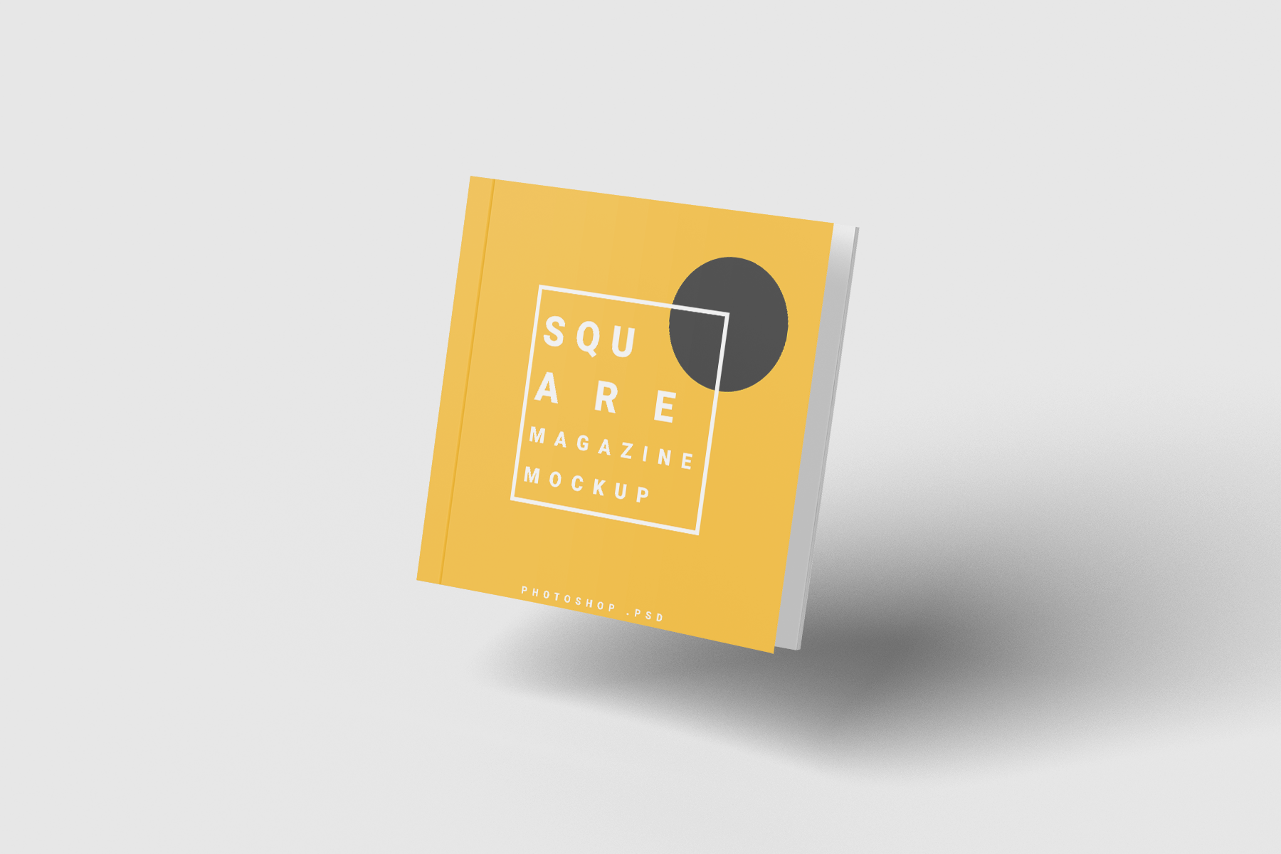 Free Magazine Square Mockup