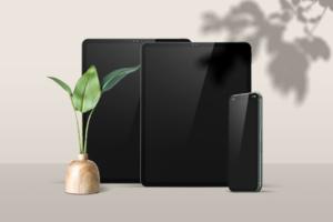Free iPad Pro with iPhone Mockup